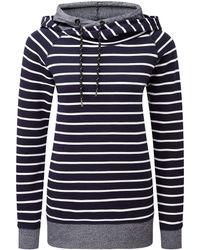 Tog 24 - Tog24 Nell Womens Stripe Hoody - Lyst