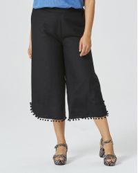 Simply Be - Linen Pom Pom Wide Leg Pants - Lyst