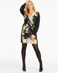 640765876a0 Simply Be - Oasis Curve Scarf Print Shirt Dress - Lyst