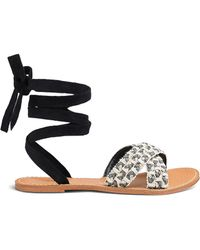 Glamorous - Tie Sandal Standard Fit - Lyst