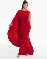 Simply Be - By Night Asymetric Fishtale Cape Dress - Lyst