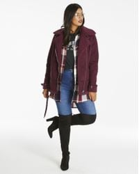 Simply Be - Aviator Borg Lined Coat - Lyst