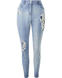 Simply Be - Joanna Hope Embellished Jeans - Lyst