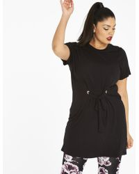 Simply Be - Draw Waist Tunic With Eyelets - Lyst