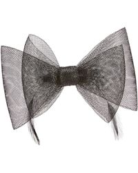 Simply Be - Black Bow Clip Fascinator - Lyst