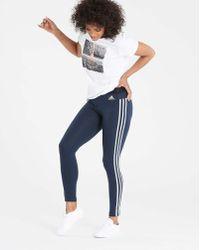 adidas - Essential 3 Stripe Tight - Lyst