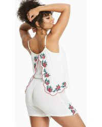 Simply Yours - Split Back Playsuit - Lyst