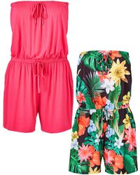 Simply Be - Pack Of Two Rompers - Lyst