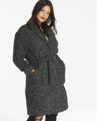 Simply Be - Wool Look Wrap Belted Coat - Lyst