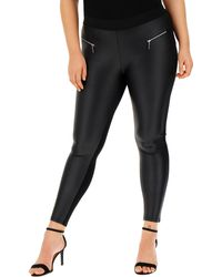 13a0d380bb37e6 Simply Be - Zipper Trim Pu Wet Look Front Leggings Reg - Lyst