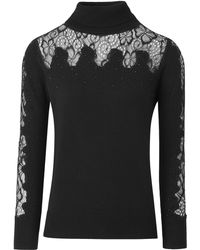 Simply Be - Lace Turtleneck Sweater - Lyst