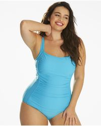 Simply Be - Magisculpt Tummy Tuck Swimsuit - Lyst