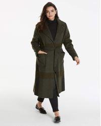 Helene Berman - Check Wrap Coat - Lyst