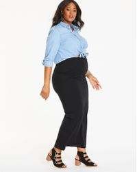 Simply Be - Maternity Jersey Midi Tube Skirt - Lyst