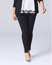 Simply Be - Ponte Zipper Ankle Pants - Lyst