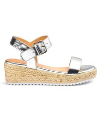a2eb5525f31d Lyst - Simply Be Frankie Espadrille Wedges in Metallic