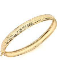 Simply Be - 9ct Gold Diamond Cut Bangle - Lyst