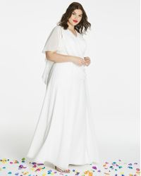 abf55cb60b2f Lyst - Betsey Johnson Bridal Terry Robe (plus Size) in White