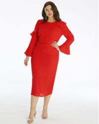 Simply Be - Oasis Flute Sleeve Shift Dress - Lyst