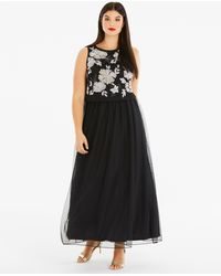 Simply Be - Joanna Hope Embroidered Maxi Dress - Lyst