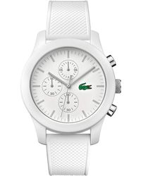 Lacoste - Gents White Silicon Watch - Lyst
