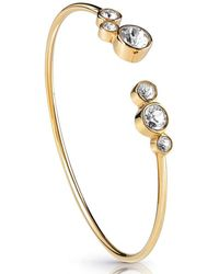 Guess - Crystal Row Open Bangle - Lyst