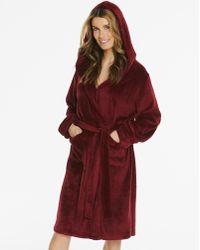 Simply Be - Hood Fleece Robe - Lyst
