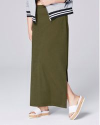 Simply Be - Double Split Crepe Maxi Tube Skirt - Lyst