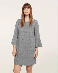 Violeta by Mango - Fluted Sleeve Dress - Lyst