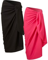Simply Be - Basic 2 Pack Sarongs - Lyst