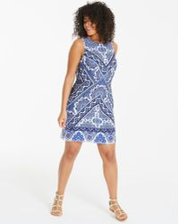 e1ff3f191665 Simply Be Oasis Curve Anchor Tea Dress in Blue - Lyst