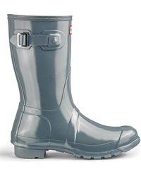Simply Be - Hunter Short Gloss Rain Boots - Lyst