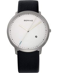 Bering - Gents White Dial Strap Watch - Lyst
