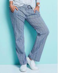 Simply Be - Herringbone Wide Leg Belted Trousers - Lyst