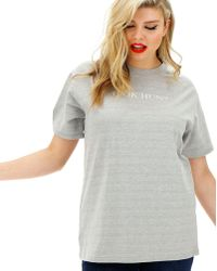 Simply Be - Lasula U Ok Hun Slogan T-shirt - Lyst