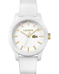 Lacoste - White Silicon Strap Watch - Lyst