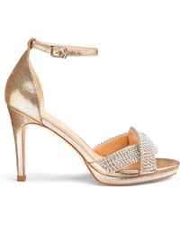 0585264232e Lyst - Monsoon Dolly Diamante Trim Sandals With Bows in Natural