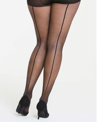 Pretty Polly - Curves Back Seam Tights - Lyst