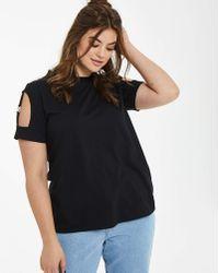 Daisy Street - Suspender Tshirt - Lyst