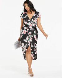 Quiz - Floral Wrap Dress - Lyst