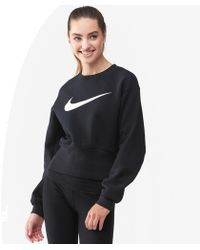 b7b69b429872 Lyst - Nike Swoosh Box Crop Hoodie in Blue