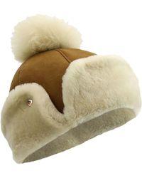 83f51c0b3f49c UGG - Sheepskin Flap Hat - Lyst