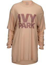 Ivy Park - Fishnet Jacquard Crop Long Sleeve - Lyst
