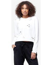 Sam Edelman - Cropped Sweatshirt With Holes - Lyst