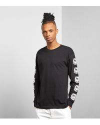 Obey - Long Sleeved Tunnel Vision T-shirt - Lyst