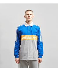 adidas Originals - Heritage Long Sleeve Rugby Polo Shirt - Lyst