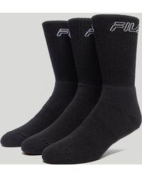 Fila - Cervo Socks 3 Pack - Size? Exclusive - Lyst