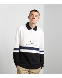 Fred Perry - Emblem Panel Rugby Shirt - Lyst