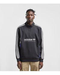 adidas Originals - Apian Pullover Half Zip Sweatshirt - Lyst