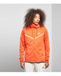 072ff91cf2 Nike Fleece Windrunner Full Zip Hoody in Orange for Men - Lyst
